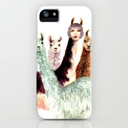 Alison and the Llama Sisters iPhone Case