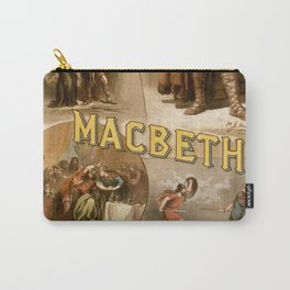 Vintage Macbeth Theatre Poster Carry-All Pouch