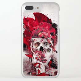 Poisonous Flowers Clear iPhone Case