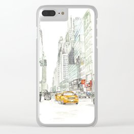 New York City Taxi Clear iPhone Case