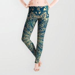 BLUE ORGANIC MANDALA Leggings