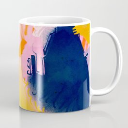 Deep Dream, Abstract Modern Painting, Eclectic Colorful Pop of Color Graphic Design Coffee Mug