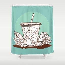 Purple Drank - Chocolate & Mint Shower Curtain