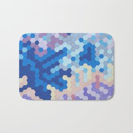 Nebula Hex Bath Mat