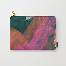 Expand [2]: a colorful, minimal abstract piece in pinks, green, and blue Carry-All Pouch