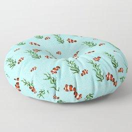School of Clown Fish Floor Pillow