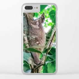 Exotic Flying Lemur Clear iPhone Case