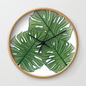 Large Monstera Leaf in Moss Green by thewhimsicalrepose