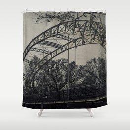 Rustic Steel Bridge Architectural Industrial A173 Shower Curtain