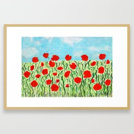 Everything's Popping Up Poppies! Framed Art Print