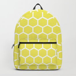 Summery Happy Yellow Honeycomb Pattern - MIX & MATCH Backpack