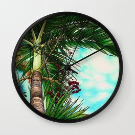 Manila Palm Tree - Hawaii Wall Clock
