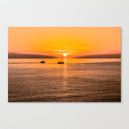 Finish of the day Canvas Print