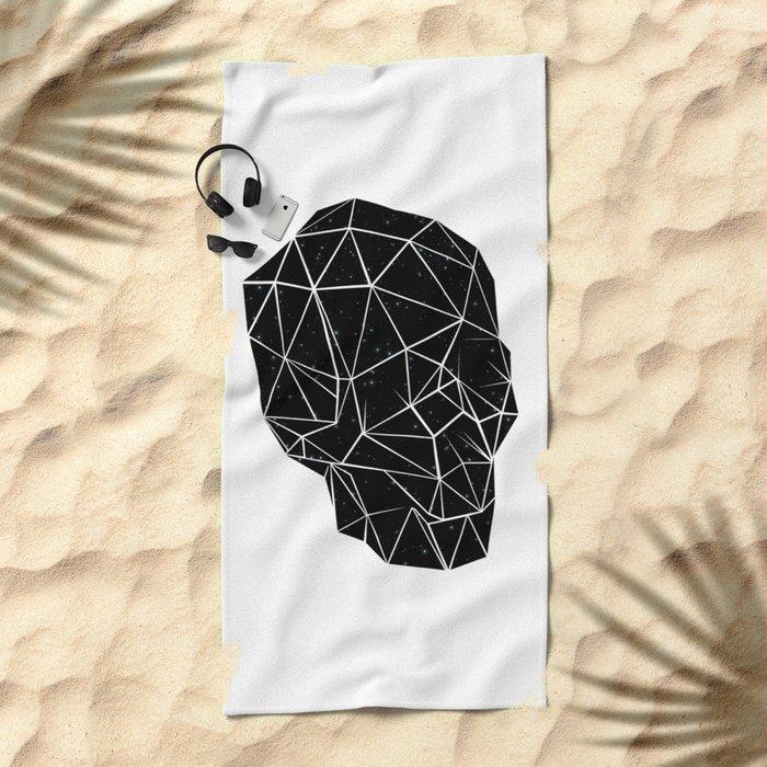 Space Skull Beach Towel