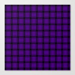 Indigo Violet Weave Canvas Print