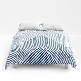Shades of Blue Abstract geometric pattern Comforters