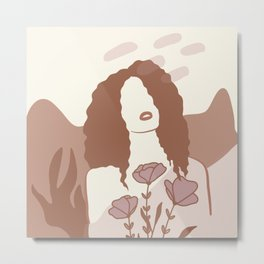 Abstract female body Art Metal Print