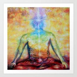 Chakra colors - Andrew Kaminski Art Art Print