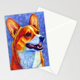 Colorful Pembroke Welsh Corgi Dog Stationery Cards