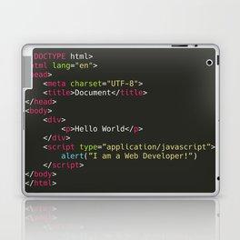 Hello World, I am a Web Developer Laptop & iPad Skin