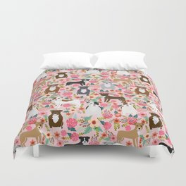 Pitbull florals mixed coats pibble gifts dog breed must have pitbulls florals Duvet Cover