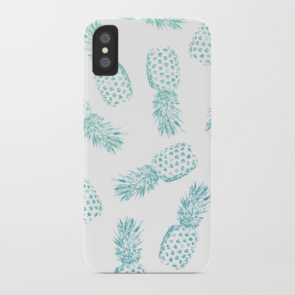 Pineapples Blue Phone Case by Ruifaria PCS8025010