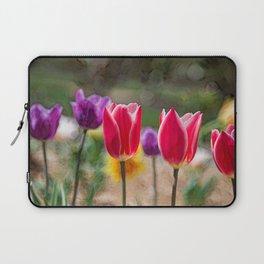 Tulip Field Abstract Laptop Sleeve