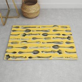 Toile de Cuisine Yellow Rug