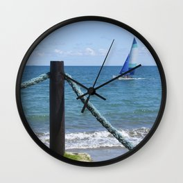Idylic sea scape Wall Clock