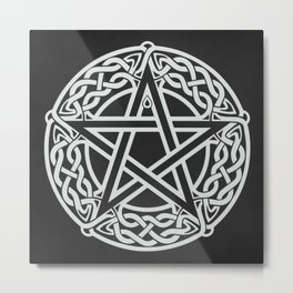 Celtic Pentagram Metal Print