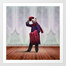 Mr Bedlow Bear Steps Out Art Print