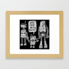 My Data? Robot Kid Framed Art Print