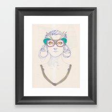 Untitled drawing Framed Art Print