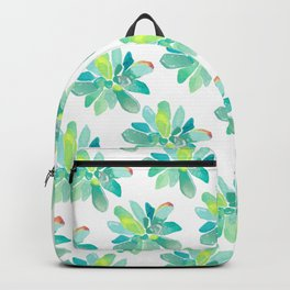 watercolor succulent pattern Backpack