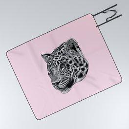 Amur leopard cub - pink - big cat Picnic Blanket