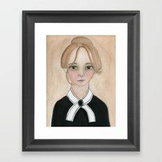 Miss Charlotte Framed Art Print