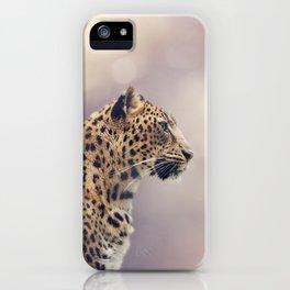 Leopard portrait close up shot iPhone Case