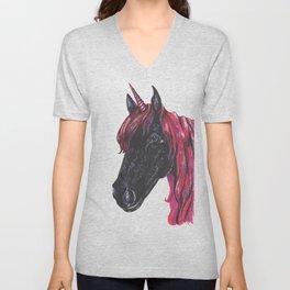 Dark unicorn Unisex V-Neck
