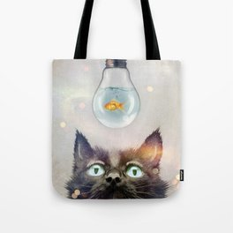 Cat Fish Tote Bag