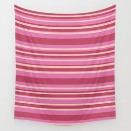 Pink & Yellow Stripes Wall Tapestry