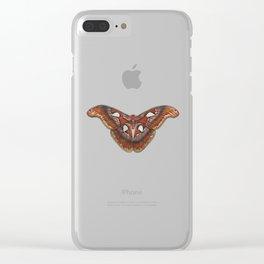 Atlas Moth Clear iPhone Case