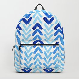 Blue Watercolour Arrows Backpack