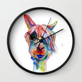 Lama hippy Wall Clock