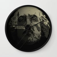 shakespeare Wall Clocks featuring Shakespeare / Destiny by MORPHEUS
