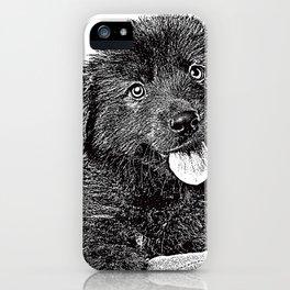 Cute fluffy puppy iPhone Case