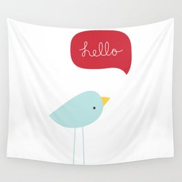 Hello Birdie Wall Tapestry