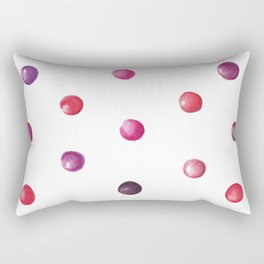 Polka dot (Red and purple) Rectangular Pillow