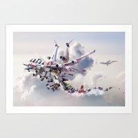 Dragon Airways Art Print