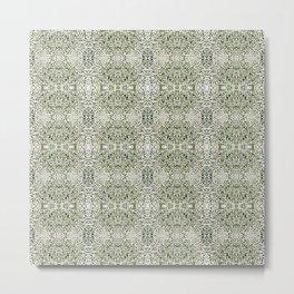 181 - Tiny white flowers pattern Metal Print