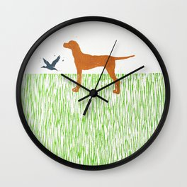 Hungarian vizsla dog Wall Clock